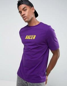 Фиолетовая футболка с принтом Jaded London - Фиолетовый