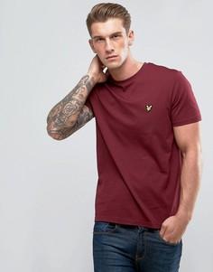 Бордовая футболка с логотипом Lyle & Scott - Красный