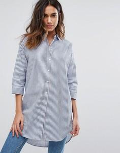 Рубашка в полоску с длинным рукавом JDY Long - Синий