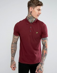 Бордовая футболка-поло с логотипом Lyle & Scott - Красный