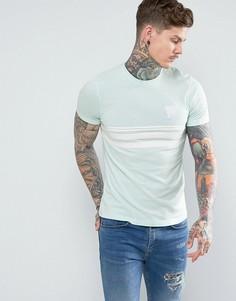 Голубая футболка с полосами Good For Nothing - Синий
