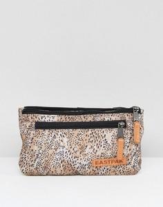 Сумка-кошелек на пояс с леопардовым принтом Eastpak Talky - Серый