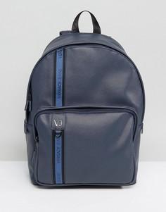 Темно-синий рюкзак с лентой с логотипом Versace Jeans - Темно-синий