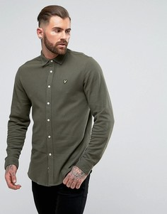 Трикотажная рубашка цвета хаки Lyle & Scott - Зеленый