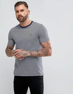 Темно-синяя футболка в полоску Lyle & Scott - Темно-синий