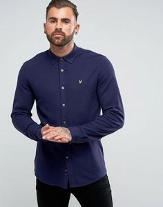 Темно-синяя трикотажная рубашка Lyle & Scott - Темно-синий