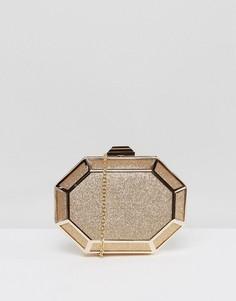 Золотистый клатч с блестками Chi Chi London - Золотой