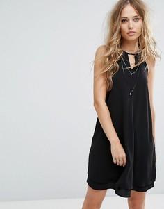 Платье с завязкой на шее Only - Черный