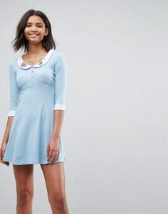 Приталенное платье Hell Bunny Beebee - Синий