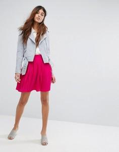 Плиссированная мини-юбка Vero Moda - Фиолетовый