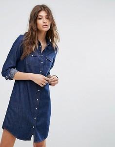 Джинсовое платье в стиле вестерн Levis Iconic - Синий Levis®