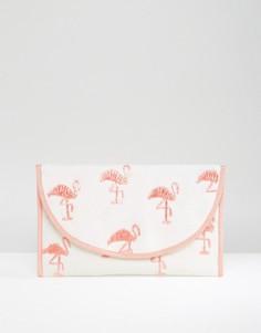 Клатч с вышивкой фламинго ASOS BEACH - Мульти