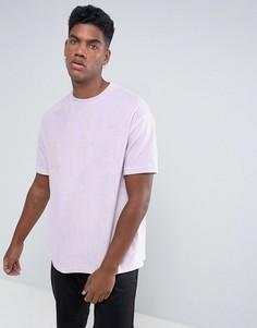 Велюровая оверсайз-футболка Antioch - Фиолетовый
