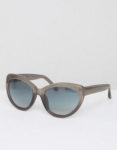 Серые солнцезащитные очки с блестками и градиентными стеклами Markus Lupfer - Серый