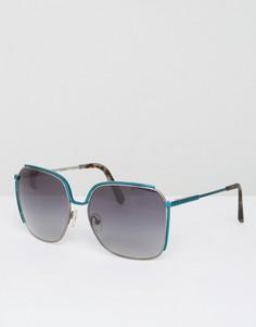 Большие солнцезащитные очки Matthew Williamson Peacock Shine - Синий