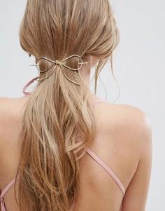 Заколка для волос с бантом ASOS - Золотой