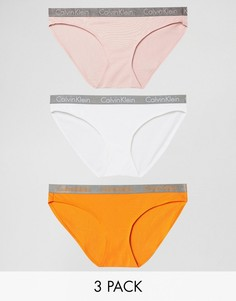 Набор из 3 хлопковых трусов Calvin Klein Radiant - Мульти