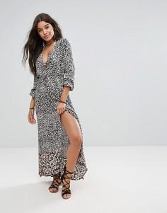 Пляжное платье макси с принтом Billabong - Мульти