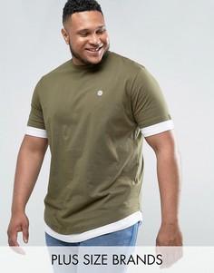 Длинная футболка Le Breve PLUS - Зеленый