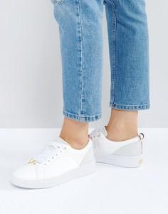 Кожаные белые кроссовки Ted Baker Kulei - Белый