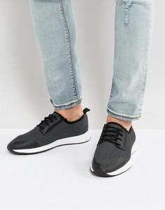 Черные кроссовки с резиновыми вставками ASOS - Черный