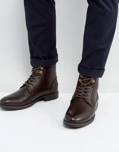 Коричневые ботинки из искусственной кожи ASOS - Коричневый