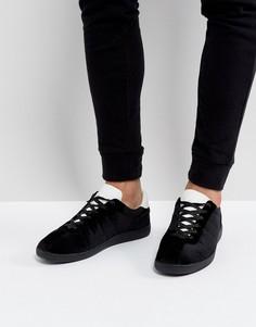 Черные кроссовки из бархата в стиле ретро ASOS - Черный