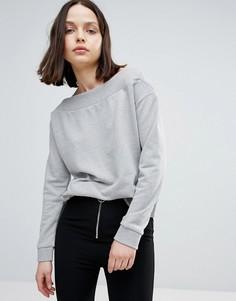 Свитшот с открытыми плечами Twiin - Серый Twin