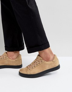 Песочные кроссовки из искусственной кожи ASOS - Светло-серый