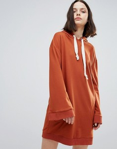 Трикотажное оверсайз-платье Twiin - Оранжевый Twin