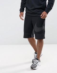 Черные шорты с логотипом-галочка Nike Hybrid 884914-010 - Черный