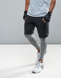 Черные флисовые шорты Nike Training Dri-FIT 8 817417-010 - Черный