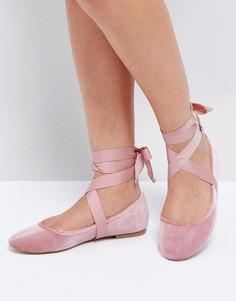 Балетки ASOS LORITA - Розовый