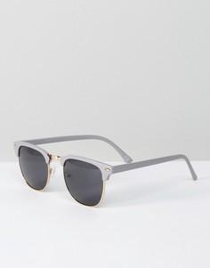 Солнцезащитные очки в стиле ретро ASOS - Серый