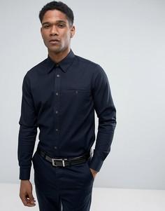 Фактурная приталенная рубашка Ted Baker - Темно-синий