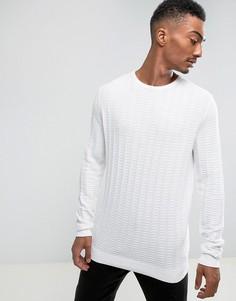 Фактурный джемпер Calvin Klein - Белый
