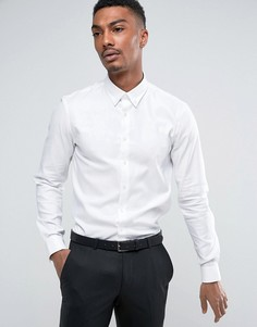 Строгая приталенная рубашка на пуговицах Calvin Klein - Белый