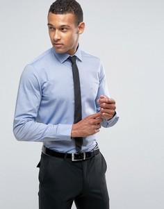Эластичная строгая рубашка скинни из ткани добби Calvin Klein - Синий