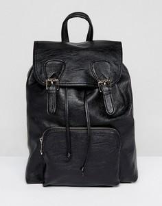 Рюкзак с пряжкой спереди ASOS - Черный