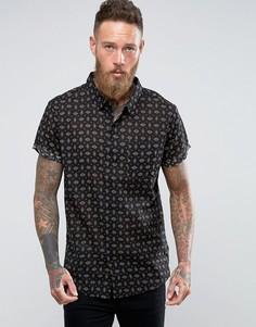 Черная рубашка Rollas - Черный Rollas