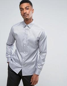 Строгая рубашка узкого кроя Selected Homme - Серый