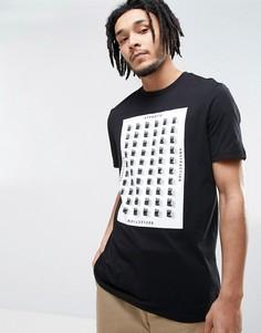 Длинная футболка с абстрактным принтом ASOS - Черный
