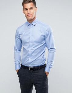 Строгая рубашка узкого кроя Selected Homme - Синий