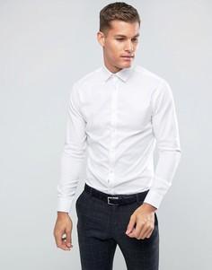 Строгая рубашка узкого кроя Selected Homme - Белый