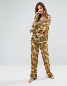 Пижама с пальмовым принтом Chelsea Peers - Мульти
