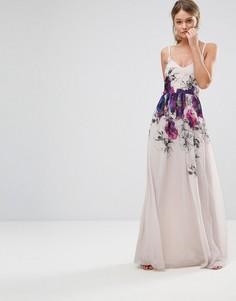 Платье макси на бретельках с принтом Little Mistress - Мульти