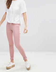 Джинсы скинни пастельного оттенка Brave Soul - Розовый