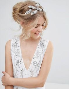 Украшение для волос с листьями и лентами-завязками ALDO - Серебряный