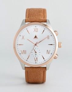 Часы со светло-коричневым кожаным ремешком ASOS - Коричневый