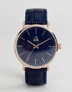 Часы с ремешком из искусственной крокодиловой кожи ASOS - Темно-синий
